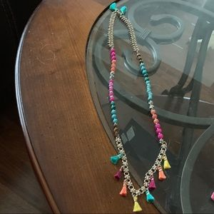 Chloe + Isabel multi color Tassel necklace